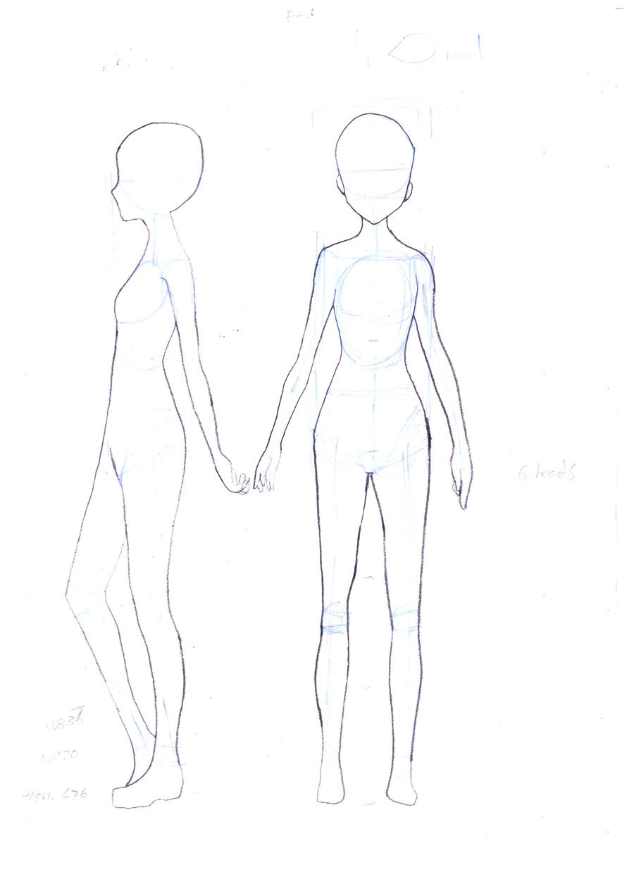 Female body template by faithtale on deviantart for Manga character template