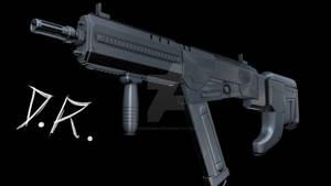 Sci-Fi Rifle in progress 1