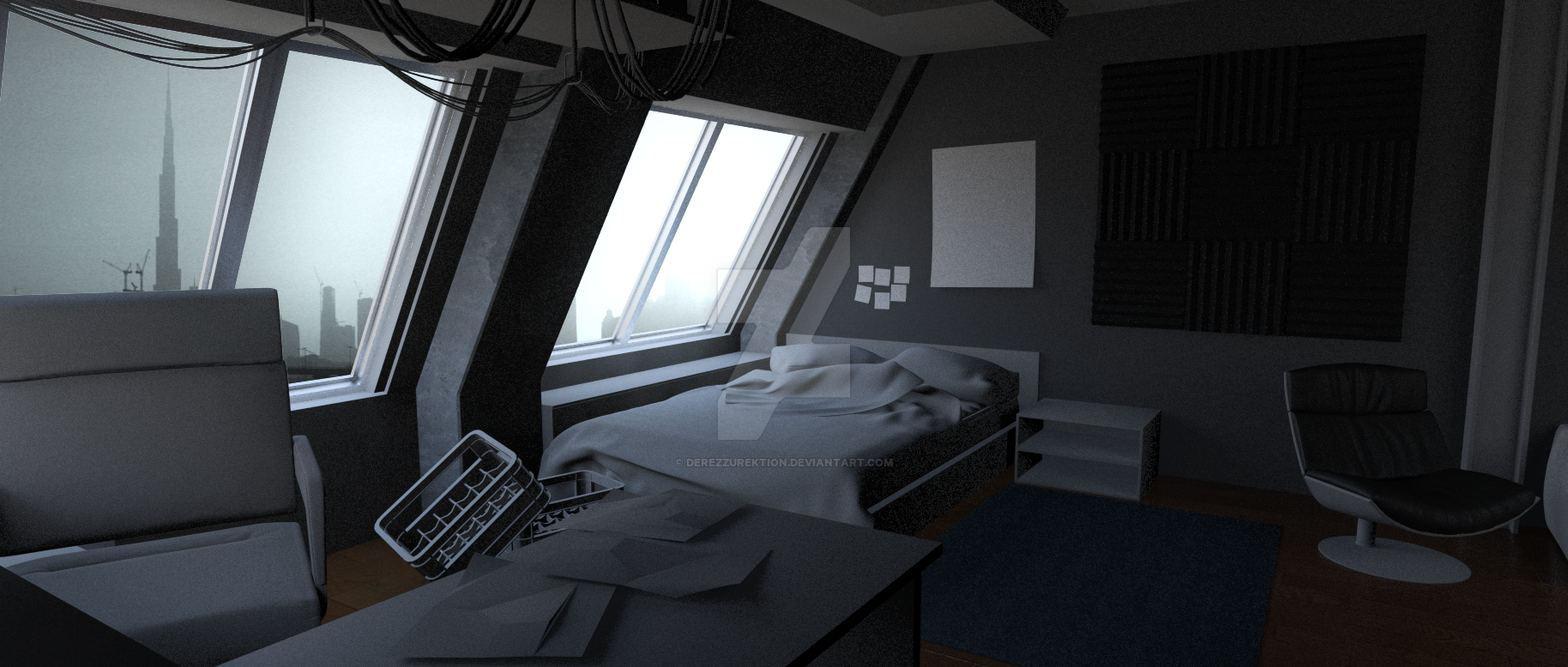 Apartment 2 Look-Dev Office and Bedroom WIP by ...