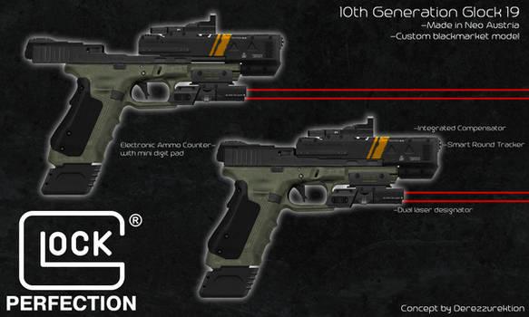10th Gen Glock Pistol - Blackmarket Model