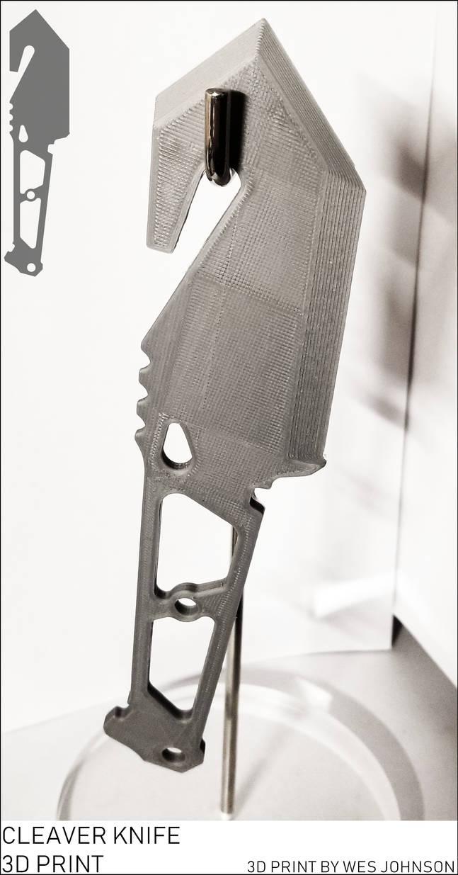 Cleaver Knife 3D Printed -FREE-