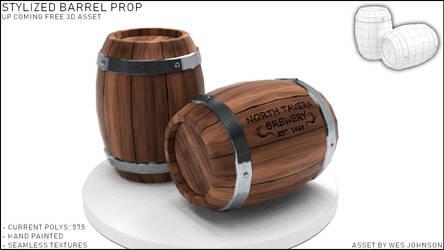 UPCOMING ASSET_Stylized Wooden Barrel