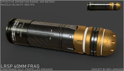 LRSP 40mm Frag Munition