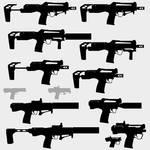 Gun Silhouette Backlog_1 - Bullpup Revolvers by DeRezzurektion