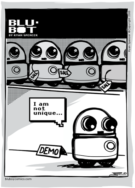 Blu-BOT: 01 - Unique by bluBoyComics