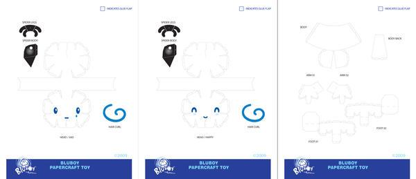 BluBoy: PaperCraft - Dielines by bluBoyComics