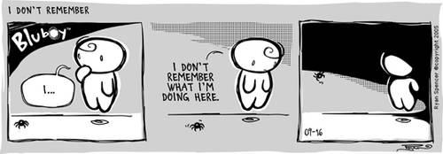 BluBoy: Daily - Don't Remember by bluBoyComics
