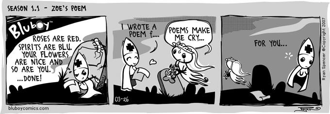 BluBoy: Daily S1.1 - The Poem by bluBoyComics