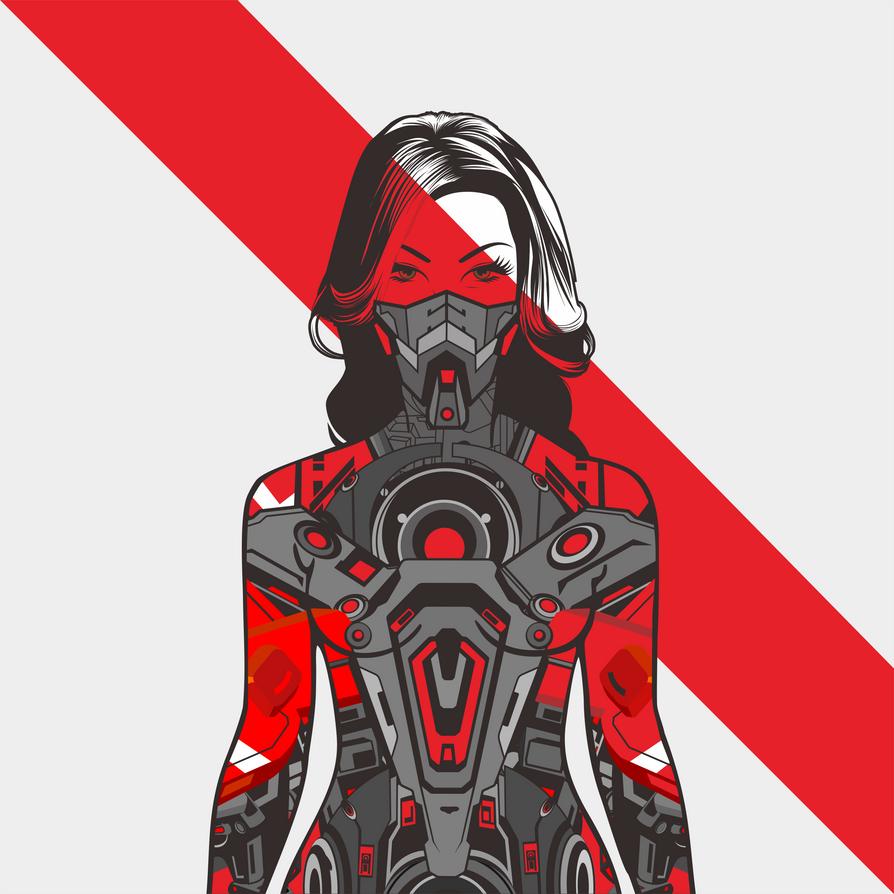 Hybrid Mech Woman by ky27