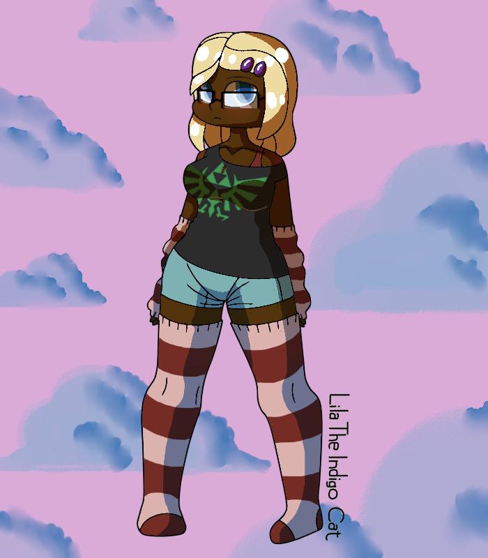 Cute Nerd Girl By LilaTheIndigoCat