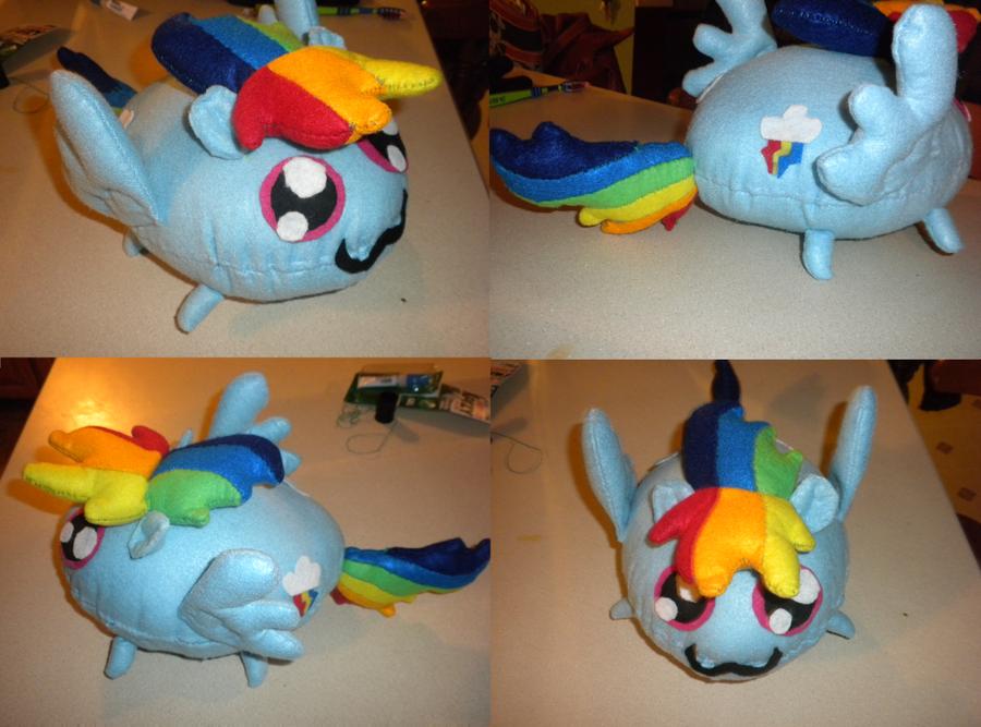 Rainbow Blob Plushie by jrk08004