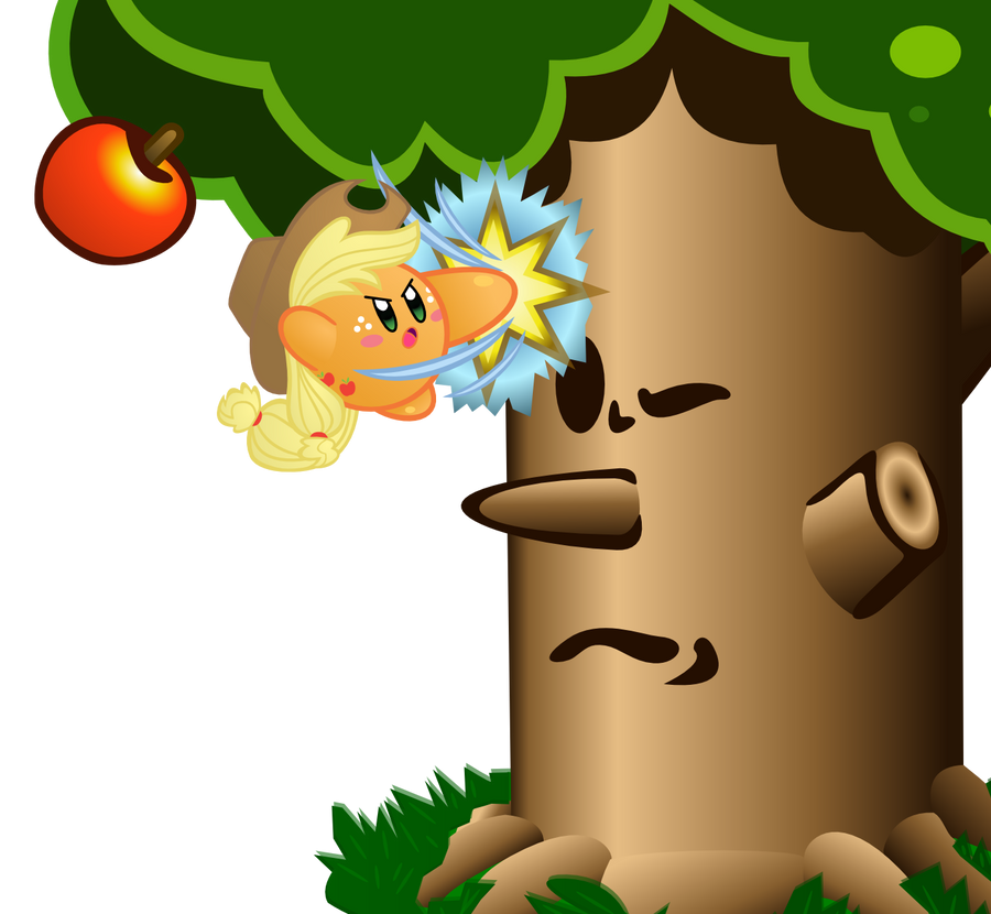 Applejack Kirby by jrk08004
