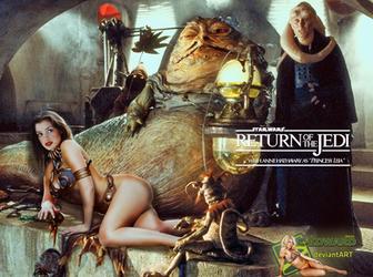 Anne Hathaway Princess Leia Slave Jabba Bib