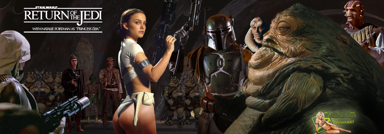 Natalie Portman Leia Slave Captured by Jabba Hutt by c-edwardOola And Leia Submit To Jabba