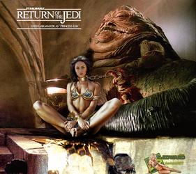 Megan Fox as Princess Leia Slave with Jabba The Hu