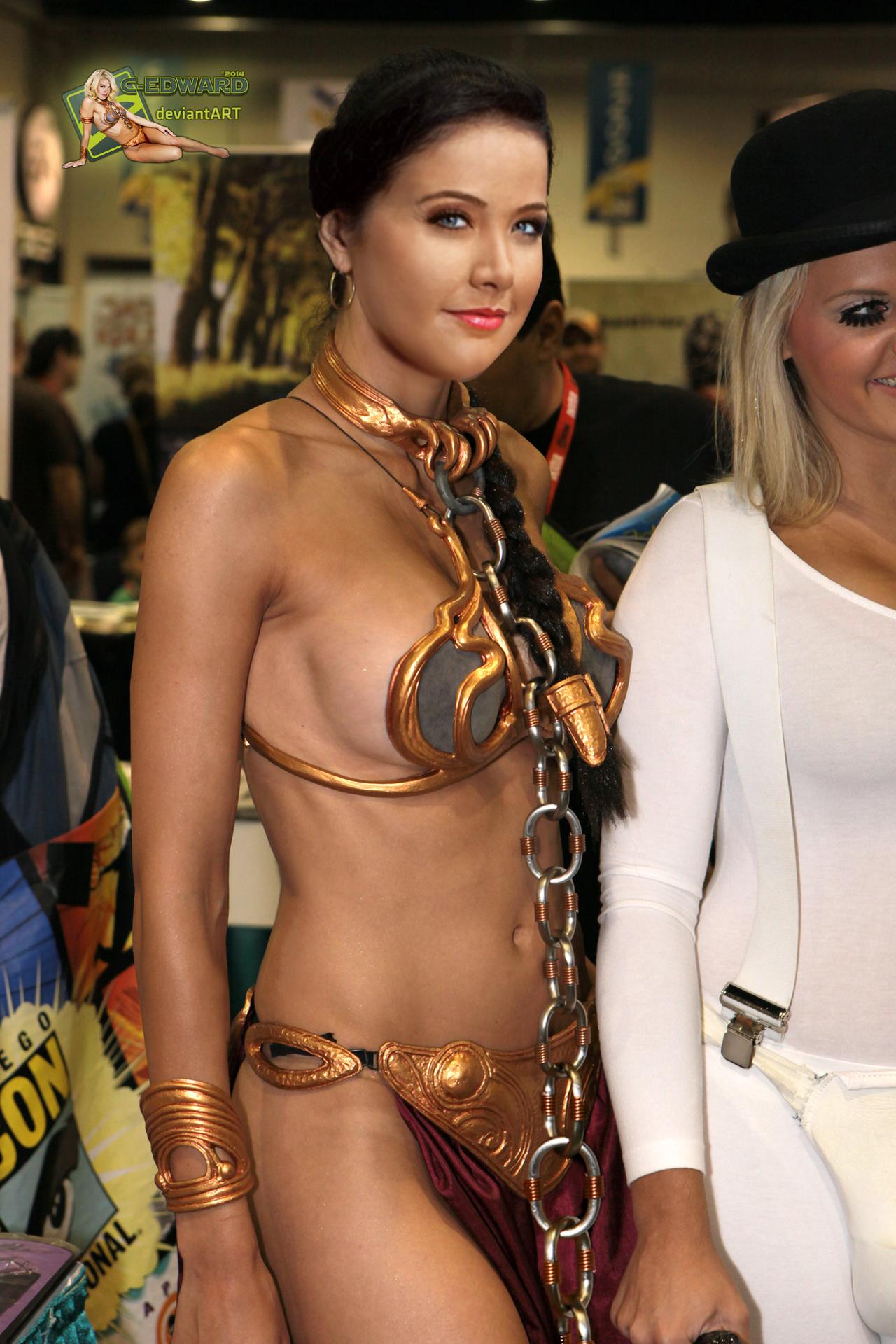 Helen Ganzarolli   Princess Leia Slave   Cosplay by c