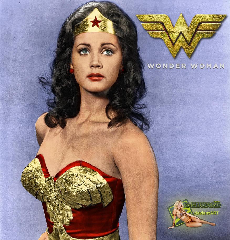 Lynda Carter Wonder Woman Bw To Color By C Edward On Deviantart