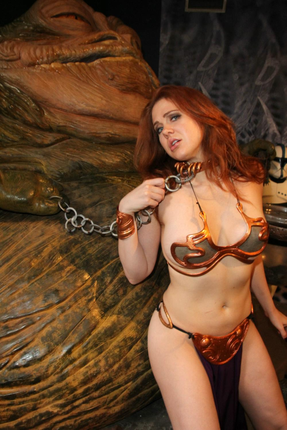 image Amber michaels tied by oak