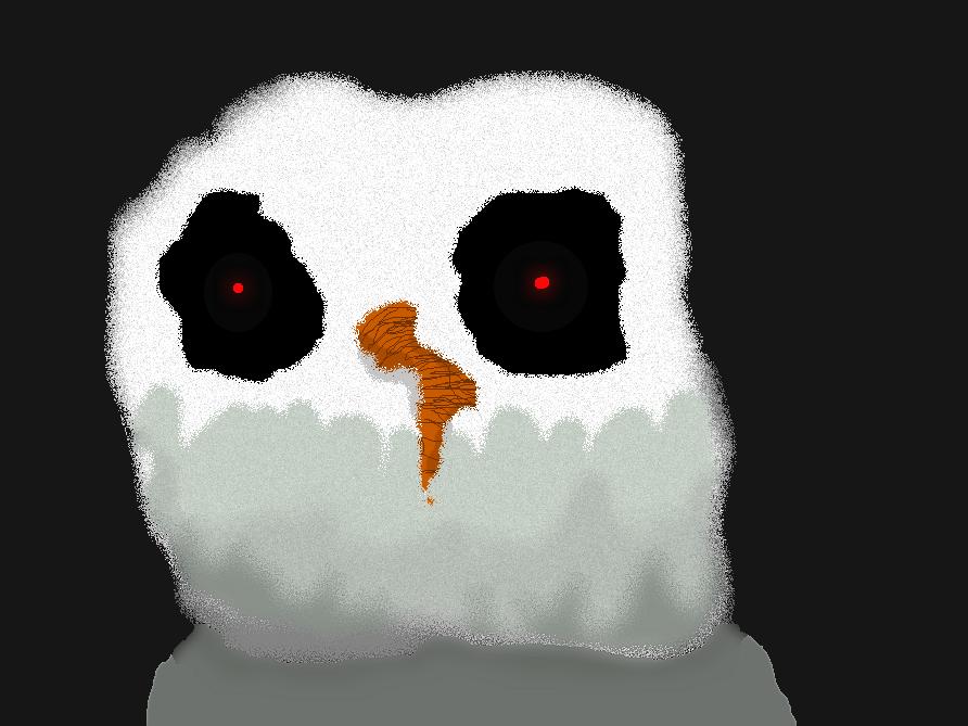 Scary Snowman By Roseprinsess On DeviantART
