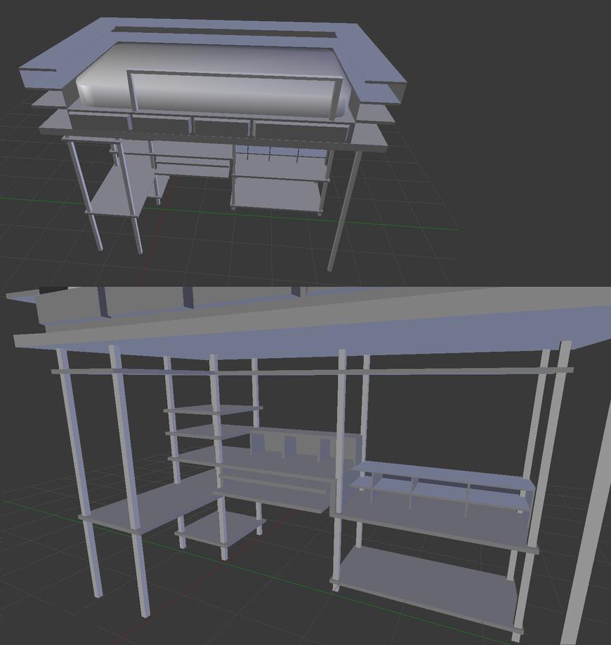 Desk Bed by watercat1