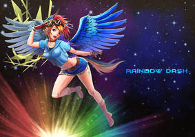 Rainbow Dash-Human by Takos000