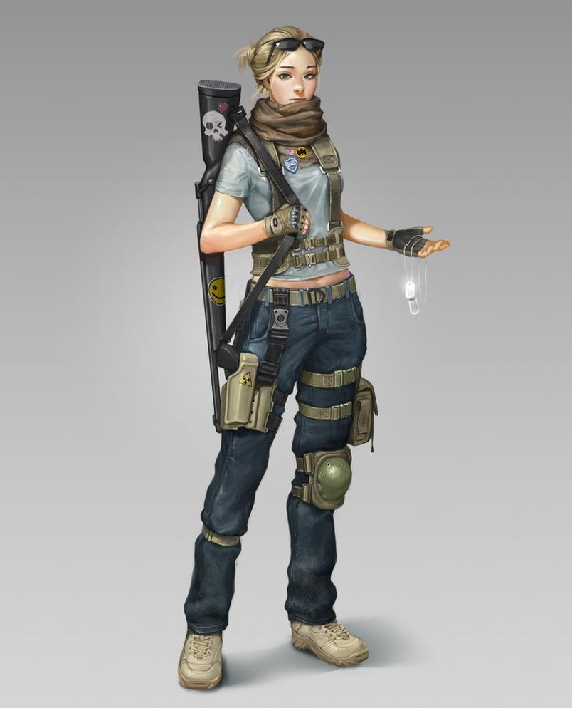 Female mercenary by Louie-Oh