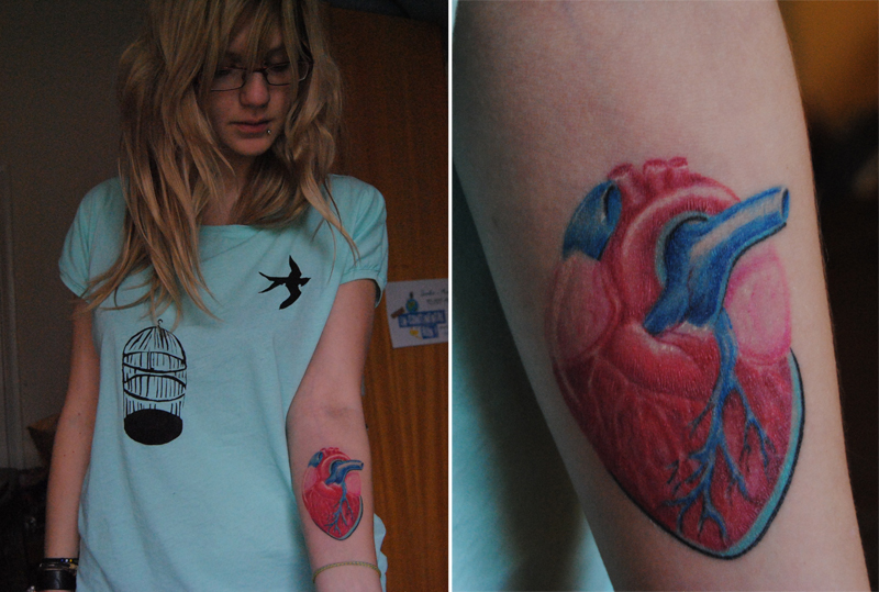 i wear my heart on my sleeve - sleeve tattoo