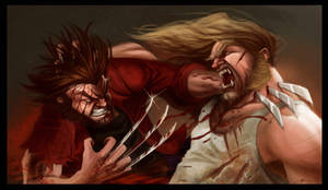 Wolverine VS Sabretooth by AlexEfremov