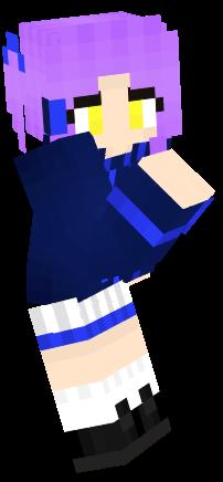 Purple Haired Girl (MINECRAFT SKIN) by LAAPPLEPIE on DeviantArt