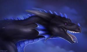 Dragon portrait for Aylaryn [Ych Commission]