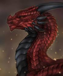 Dragon portrait for StellariaTheDragon [Commission