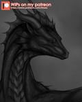 Dragon portrait WIP [Patreon]