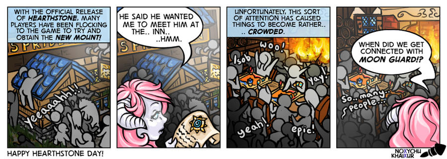 Hearthstone Launch Comic by Noxychu