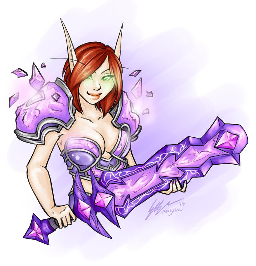 Crystal Shug - Blood Elf Commission by Noxychu