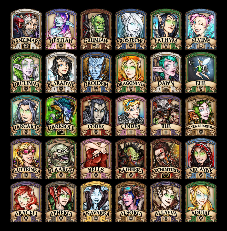 Humanoid 2014 Badges A-H by Noxychu
