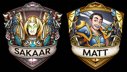 BlizzCon 2016 Auction/Sample Badges by Noxychu