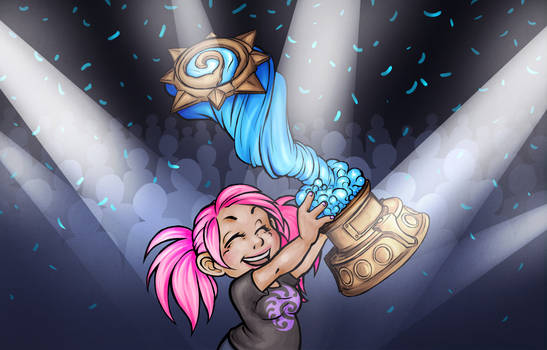 Hearthstone Win - Fanzine Illustration