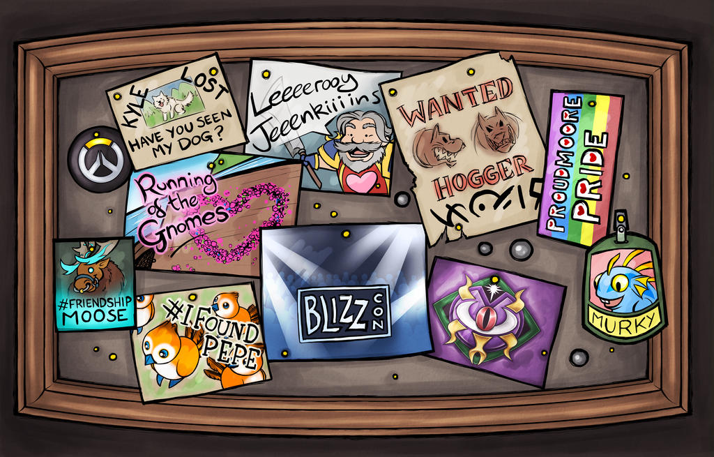 Community Board - Fanzine Illustration by Noxychu