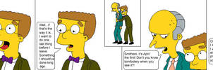Smithers and Mr. Burns
