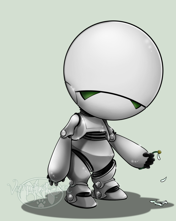 Marvin the Paranoid Android from The Hitchhiker's Guide to ...