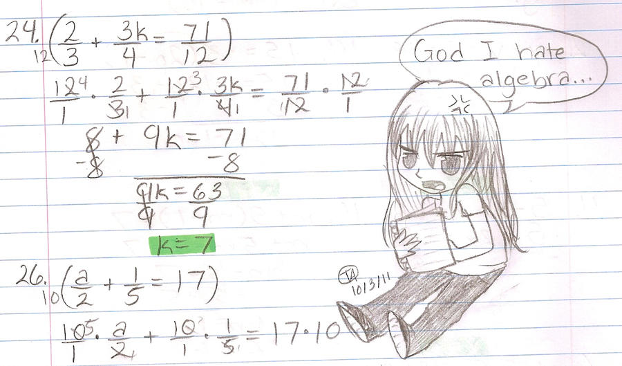 I Hate Algebra by ThatOneMuffin on DeviantArt