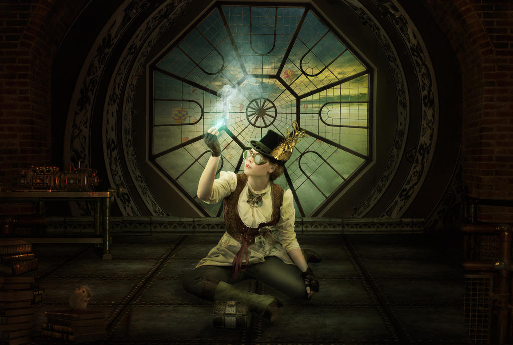 Steampunk Factory by charmedy