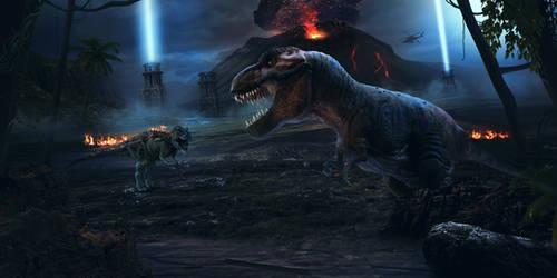 Jurassic Escape by charmedy