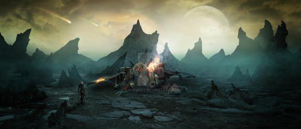 The Alien Futurescape by charmedy