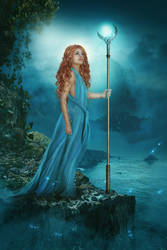 Queen of the Sea (Book Cover) (SOLD)