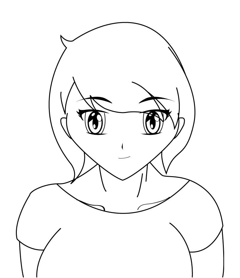 AnimeGirl Template by Nesgate on DeviantArt