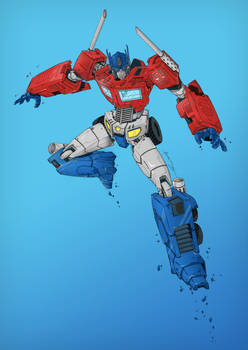 Optimus Prime - Colored