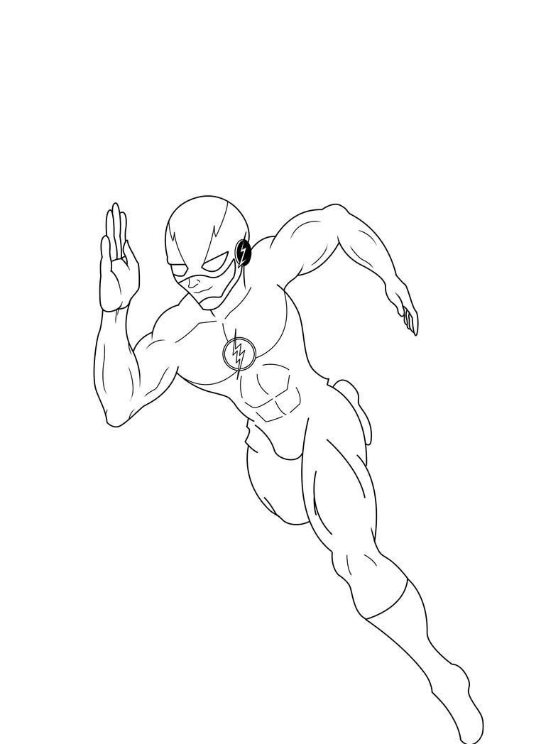 The Flash Line Art : The flash running sketch by nesgate on deviantart