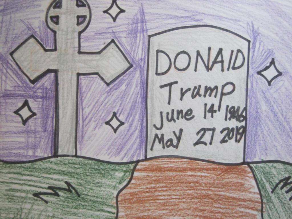 Trump dead body. by citytoon