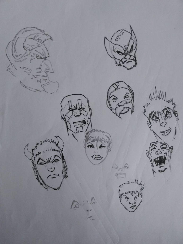 Drawing Heads  by BeenBenson